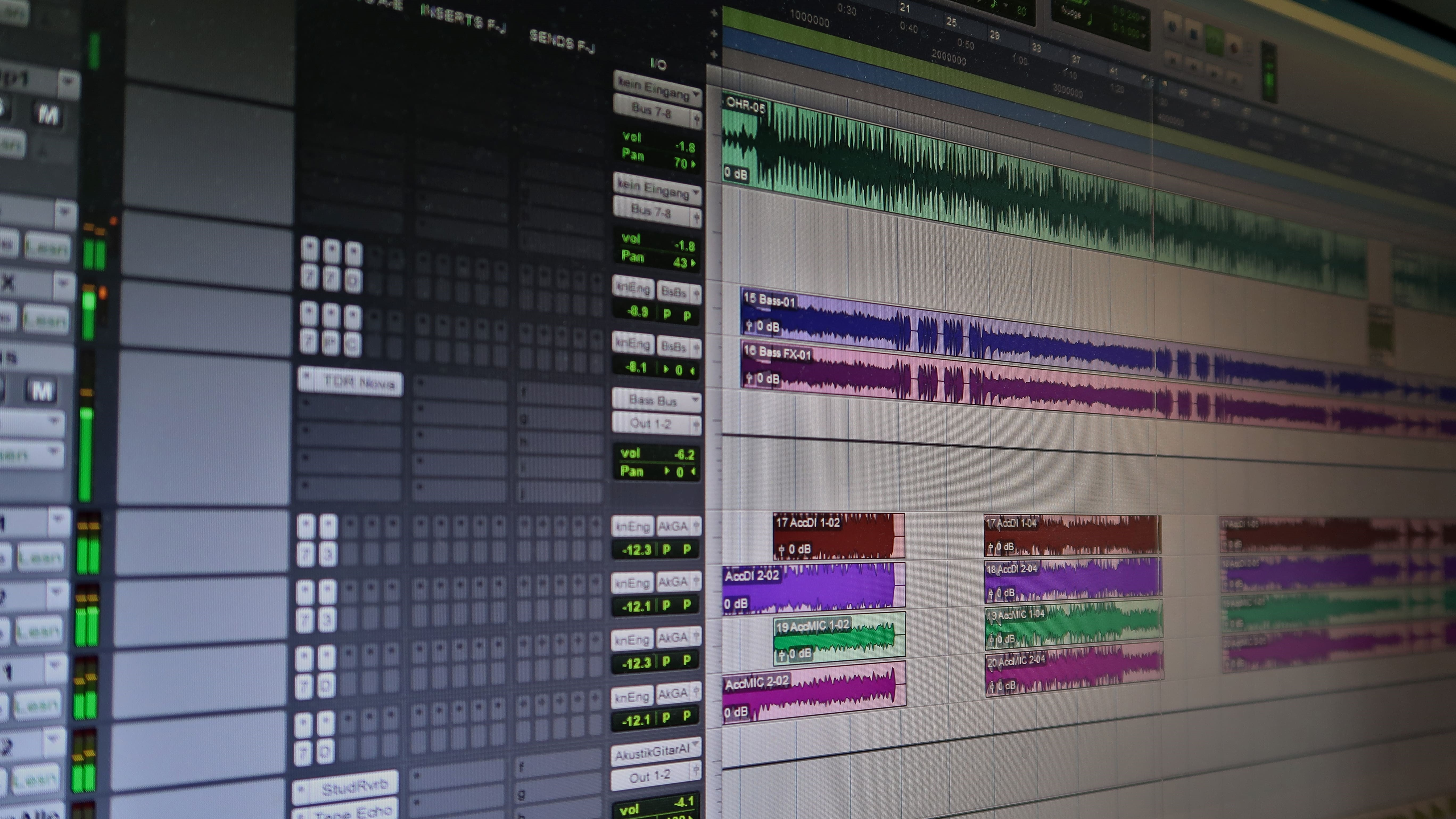 Mixing DAW Pro Tools